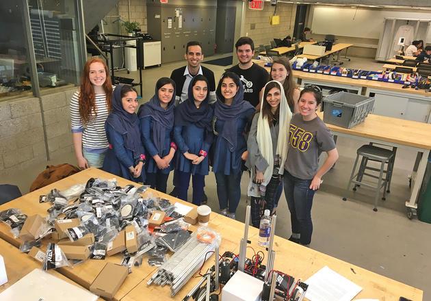 Afghan students visiting Yale CEID