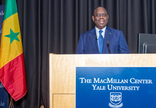 His Excellency Macky Sall, president of the Republic of Senegal, speaks at Yale September 25th 2019
