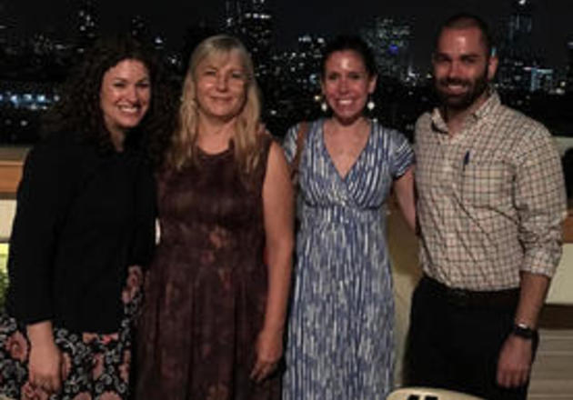 From left: Dena Schulman-Green, Yafa Haron, Shelli Feder, and David Collett have been collaborating on this project for more than three years.