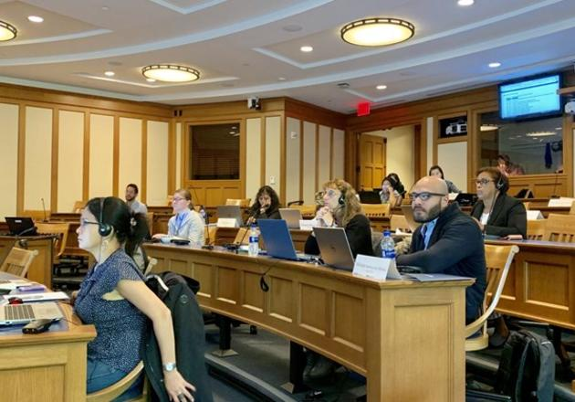 Twenty health officials from 10 Latin American and Caribbean countries attend a series of workshops hosted by Yale School of Public Health to be trained in a new statistical method that evaluates the effectiveness of vaccines (photo credit: Kayoko Shioda).