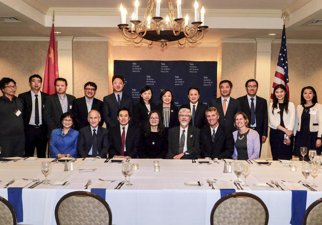 Representatives of Yale School of Public Health, Yale Cancer Center and Yale Institute for Global Health signed a memorandum of understanding with representatives of the National Cancer Center of China on May 1.