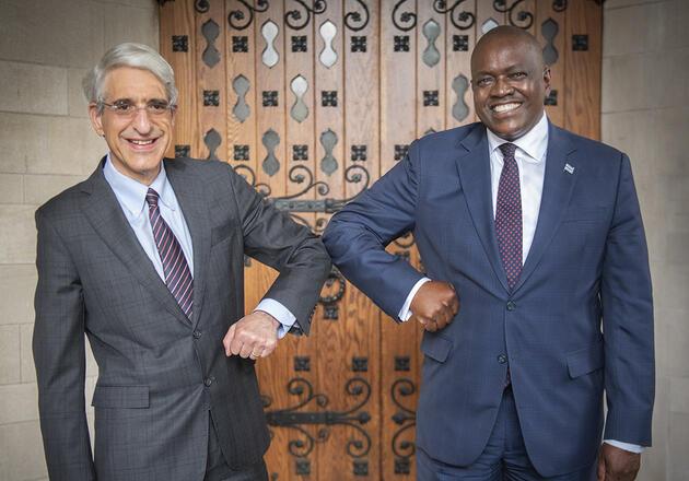 President Salovey and President Masisi