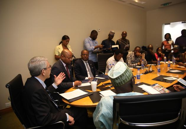 President Salovey's announcemnet took place at a press briefing in Lagos, Nigeria