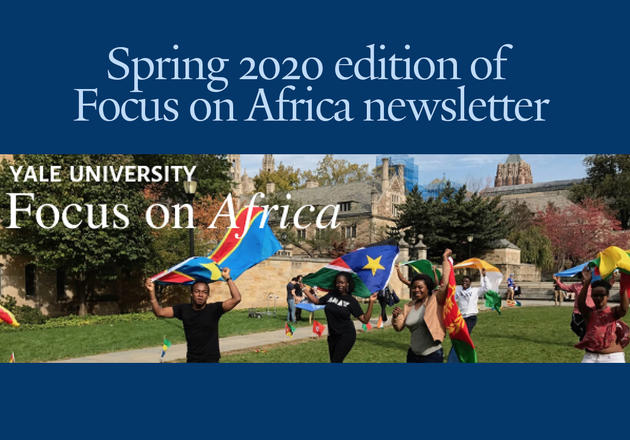 Spring 2020 edition of newsletter