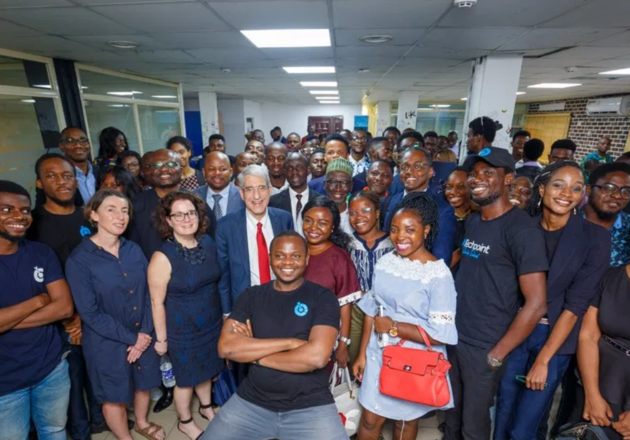 President Solvey visits Techpoint Africa in Lagos, Nigeria