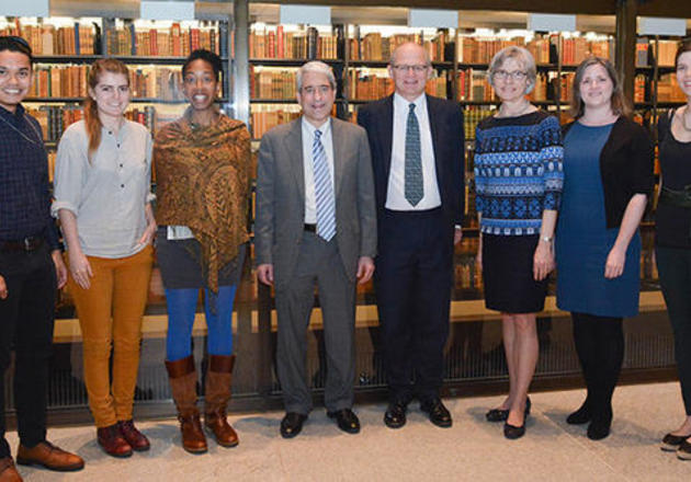 Doctoral students from Yale and the University College London (UCL) joined officials from the two universities at the signing ceremony
