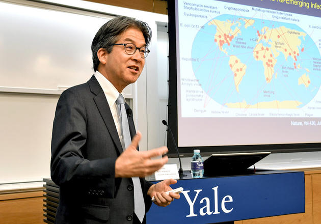 Dr. Albert Icksang Ko speaks at Yale Center Beijing.