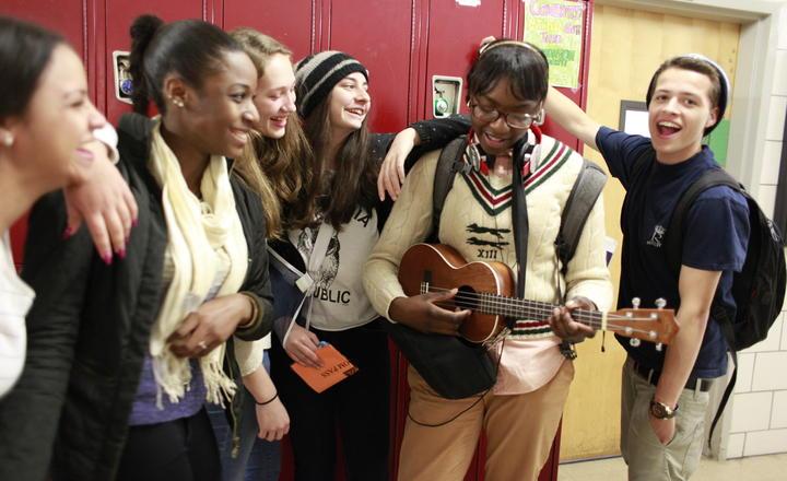 1 RULER high school students enjoying each other's company
