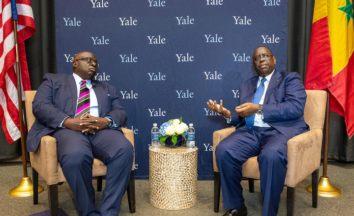 President of Senegal visits Yale