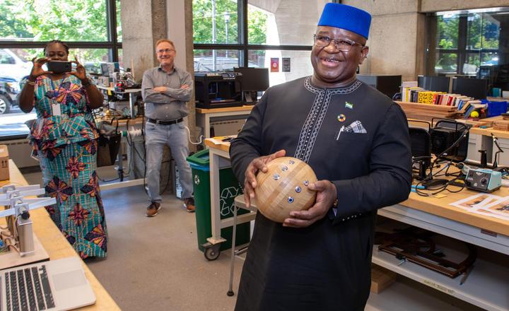 President of Sierra Leone visits Yale