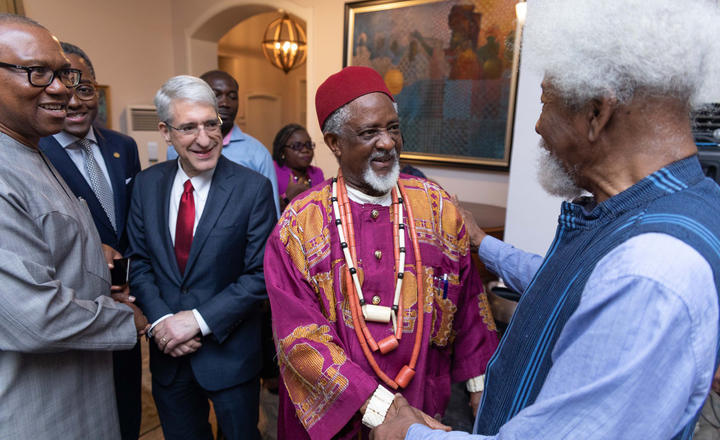 Yale President Peter Salovey visits Nigeria in January 2020
