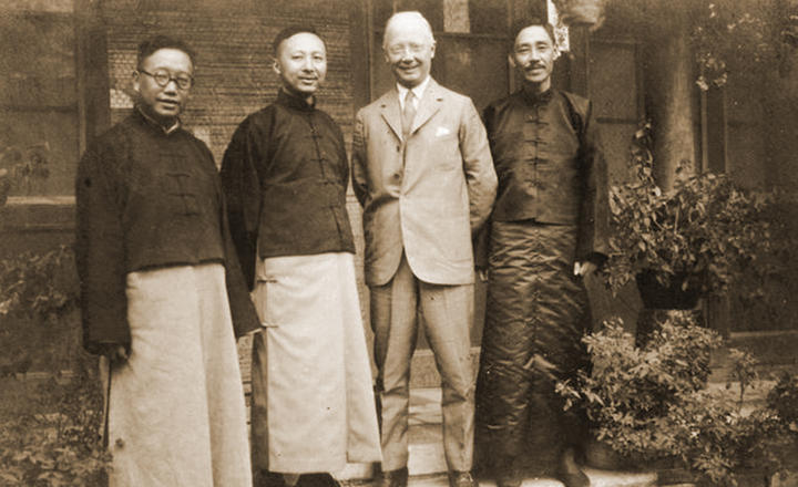 Co-founders of Yale-in-China's Xiangya Hospital and Medical School in a 1913 photograph