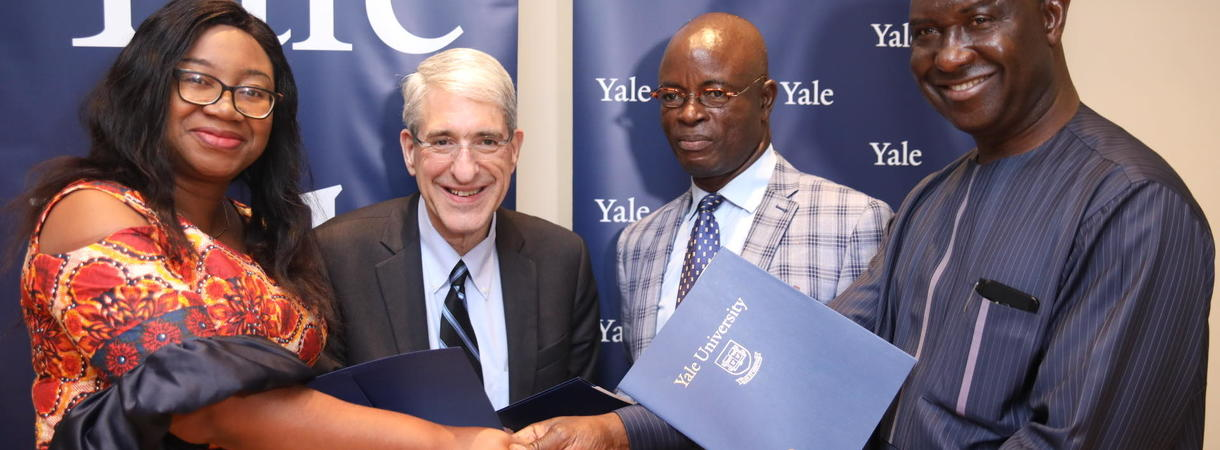 On Jan. 17th Yale President Peter Salovey met with officials to finalize plans to expand the HAPPINESS Project in Nigeria